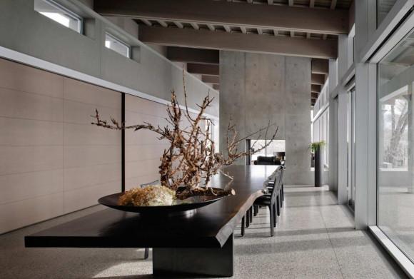 Дом из бетона, дерева и стекла в США