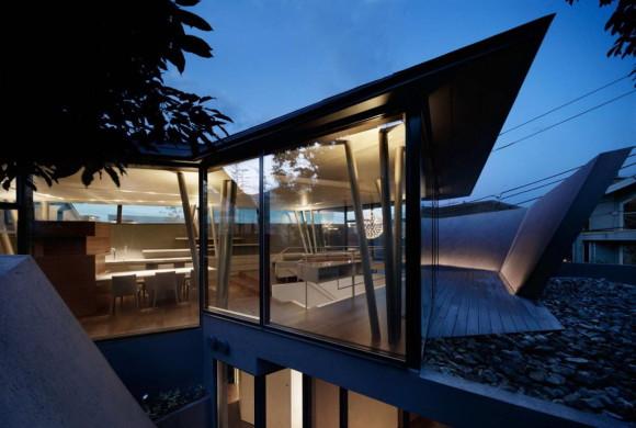 Органический городской дом в Японии