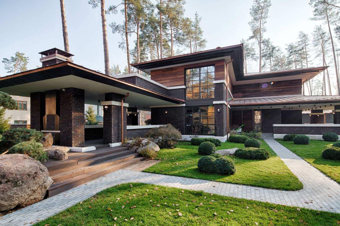 дом в стиле райта фото