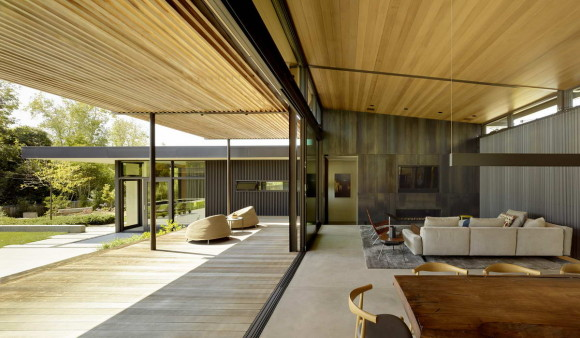 Резиденция с двором (Mill Valley Courtyard Residence) в США от Aidlin Darling Design.