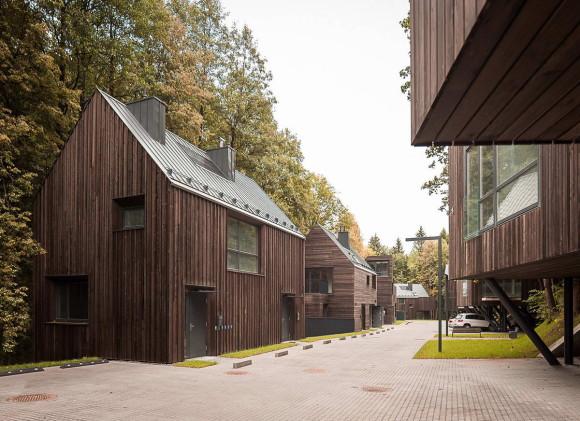 Жилые дома в Павильнисском Региональном парке (Park Houses) в Литве от Paleko Arch Studija и Plazma Architecture Studio.