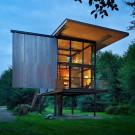 Коллекция лесных домов в США.