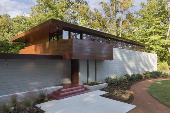 Дом Бахман-Вилсон (Bachman-Wilson House) в США от Фрэнка Ллойда Райта (Frank Lloyd Wright)