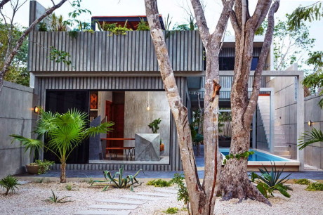 Городской дом с бассейном в Мексике
