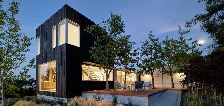 Расширение дома в США с отделкой Shou Sugi Ban Блог
