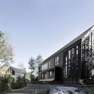 Дом на болотах (Wetlands House) в Канаде от Alain Carle Architecte.