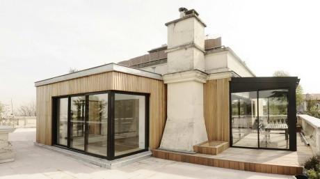 Расширение квартиры на крыше в Париже