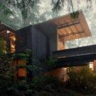 Домик в Лонгбранче (Cabin at Longbranch) в США от Olson Kundig Architects.
