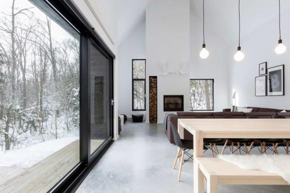 Вилла Северная (Villa Boreale) в Канаде от CARGO Architecture.