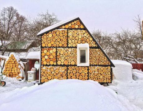 Дом-дровница в России от Рустама Керимова.