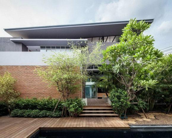 Два дома (Two Houses at Nichada) в Таиланде от Alkhemist Architects.