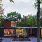 Плиссированный дом (Pleated House) в США от Johnsen Schmaling Architects.