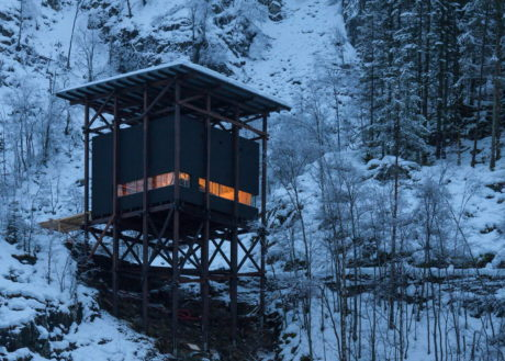 Три здания в исторической шахте в Норвегии