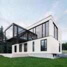 Белое шале (Chalet Blanche) в Канаде от ACDF architecture.