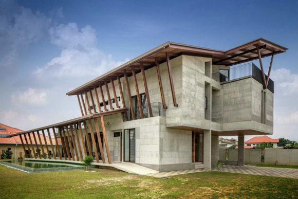 Бетонный дом в Малайзии