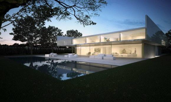 Алюминиевый минималистский дом в Испании