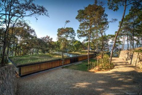 Лесной дом на склоне в Мексике