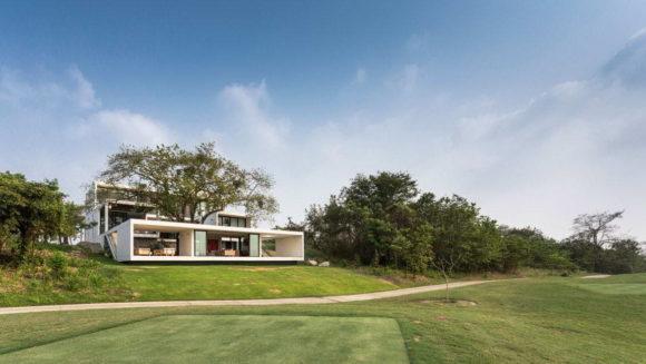 Дом с деревом в Мексике