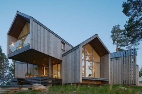 Три эффектных современных деревянных дома в Швеции и Германии.
