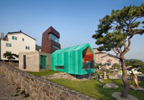Дом с башней (Tower House) в Южной Корее от On Architecture inc.