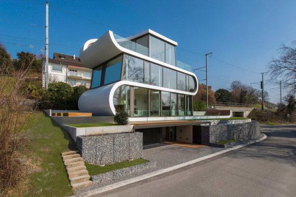 Дом-лента в Швейцарии