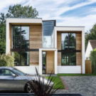 Обёрнутый дом (Wrap House) в Англии от OB Architecture.