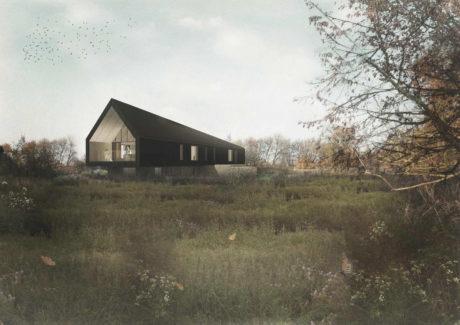 Проект чёрного дома-амбара в Англии