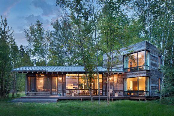 Дом у озера (Northshore Cabin) в США от Pearson Design Group.