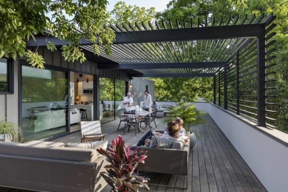 Автодом (Autohaus) в США от Matt Fajkus Architecture.