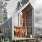 Проект Хижина Бэккантри (Backcountry Hut) в Канаде от Leckie Studio Architecture + Design.