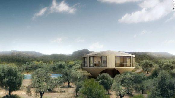 Круглый дом (Casa Johnston Marklee) в Испании от Johnston Marklee.