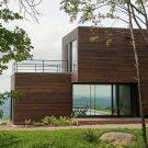 Дом Ла-Шевр (La Chevre) в Канаде от Atelier Pierre Thibault.