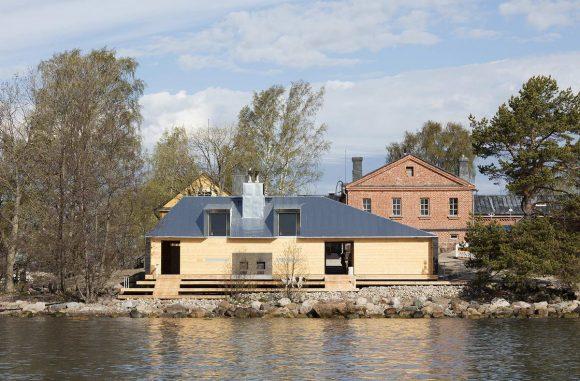 Сауна Лонна (Lonna Sauna) в Финляндии от OOPEAA.