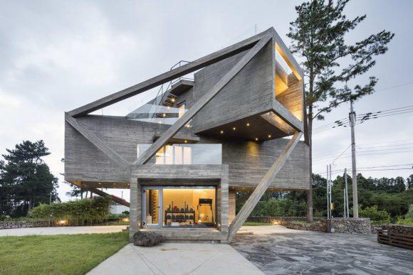 Деконструктивистский дом в Южной Корее