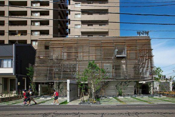 Дом с шумозащитным экраном в Японии