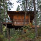 Домик у озера (Cabin on Flathead Lake) в США от Andersson-Wise Architects.