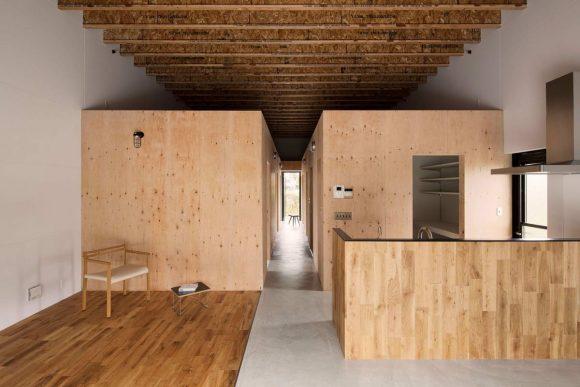 """Чёрный дом в стиле """"минимализм"""" в Японии"""