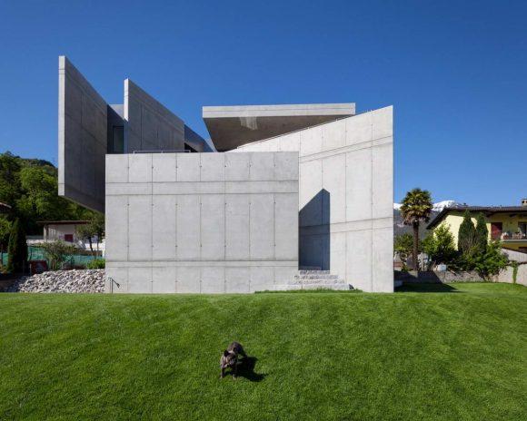 Бетонный дом в Швейцарии
