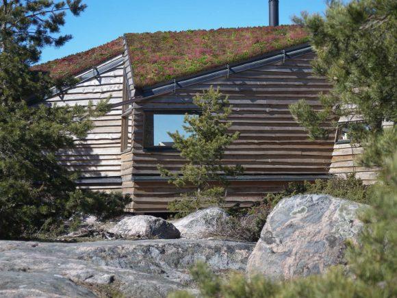 Дом на скале в Финляндии