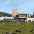 Дом в долине (Valley House) в Бразилии от David Guerra.