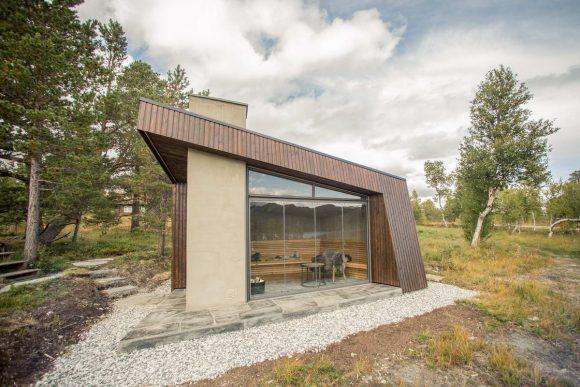 Смотровой домик Гранашёэн (Viewpoint Granasjoen) в Норвегии от Bergersen Arkitekter AS.