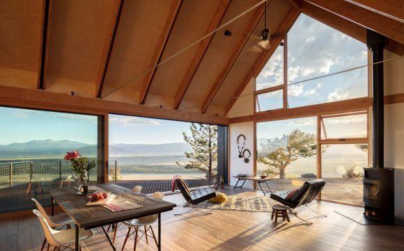 Большой дом | Маленький дом (Big Cabin | Little Cabin) в США от Renee del Gaudio Architecture.