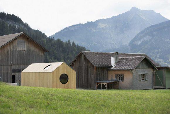 Выставочный дом (Exhibition House) в Австрии от Innauer-Matt Architekten.