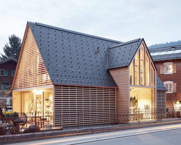 Садовый магазин (Gardening Shop Strubobuob) в Австрии от Innauer-Matt Architekten.