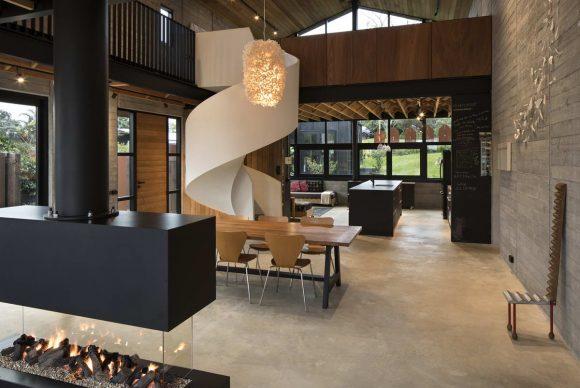 Дом у залива (Anzac Bay House) в Новой Зеландии от Vaughn McQuarrie.