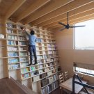 Дом «Книжная полка» (Bookshelf House) в Японии от Shinsuke Fujii Architects.