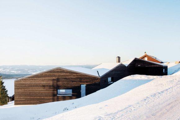 Домик на склоне в Норвегии