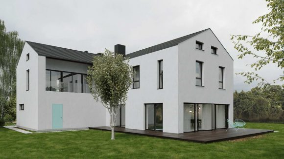 Дом для простой жизни (Easy Living House) в Польше от Marmur Studio.