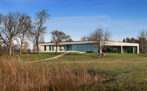 Бетонный дом в Латвии