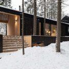 Дом для двух художников (House for two artists) в России от архитектурного бюро ХВОЯ.